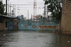 A local power station near Laguna de Bay underwater