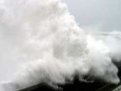 A close shave with a huge wave at Hualien harbour a few hours before typhoon Talim made landfall